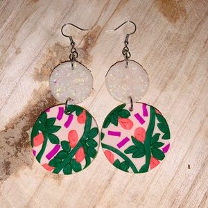 'SPRINKLED' OPAL TROPICAL CLAY EARRINGS